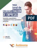 Temario VI Congreso Internacional de Administración