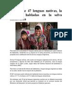 Lenguas de La Amazonia Del Peru