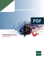 Esperanto A2. Índice del curso. Universidad Nacional.