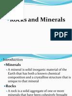 Minerals and Rocks