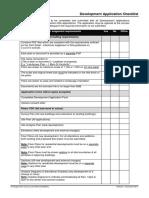 Development Application Checklist - All Development - 2016
