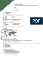 Soal PAT Geografi Kelas XI 2019