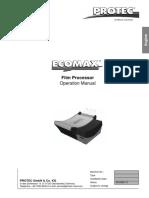 Protec Ecomax - User Manual
