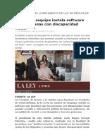 Corte de Arequipa instala software para personas con discapacidad visual