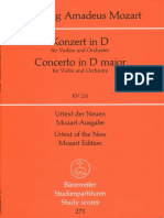Mozart Full Score Concierto 2-Barenbertein