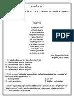 Evaluaciones Español Segundo Periodo.