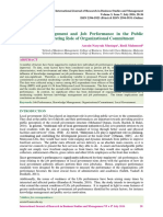 Knowledge management and job performance in the public sector the moderating role of the crganizational commitment