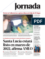 Portada del diario La Jornada