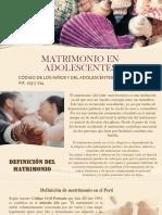 Matrimonio en Adolescentes