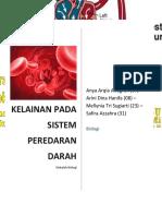 Biologi Penyakit Sistem Peredaran Darah