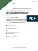 A Comparative Study of Avian Bordetella Like Strains Bordetella Bronchiseptica Alcaligenes Faecalis and Other Related Nonfermentable Bacteria