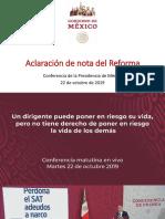 Aclaración de nota del Reforma.pptx