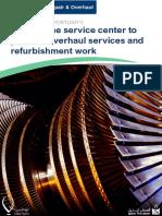 Tawteen EBrochure Gas Turbine Service Center to Perform Overhaul Services and Refurbishment Work