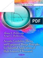 Acoustic Cavitation Theory and Equipment Design Principles for Industrial Applications of High Intensity Ultrasound by Alexey S. Peshkovsky and Sergei L. Peshkovsky