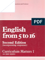 English from 5 - 16