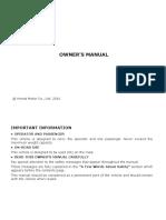 Honda Cb Hornet 160r User Manual