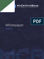 MyCryptoBank White Paper