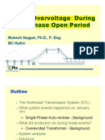 Severe Overvoltage During Single-Phase Open Period