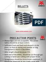 Precaution Points in Billets Manufacturing in Ambica Steels