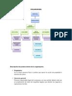 Organigrama y Descripcion de Puestos Para Proyecto Empresarial
