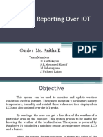 Weather Reporting Over IOT
