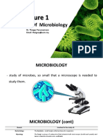 Lecture 1 an Overview to Microbiology