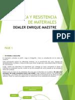 Estatica y Resistencia de Materiales