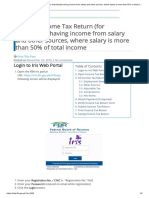 Filing of Income Tax Return (for Individuals) Having Income From Salary and Other Sources, Where Salary is More Than 50% of Total Income – Knowledge Base