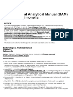 Laboratory Methods _ Chap 05. Bacteriological Analytical Manual (BAM) Chapter 5_ Salmonella
