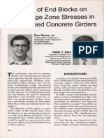 Effect of End Blocks on Anchorage Zone Stresses in Prestressed Concrete Girders