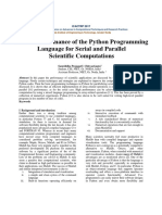 Research paper on the performance of python on serial and aprallle computing