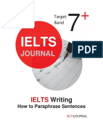 How to Paraphrase Sentence