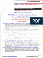 Current Affairs Weekly PDF - January 2019 Second Week (8-14)
