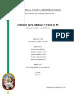 Métodos Para Calcular El Valor de Pi