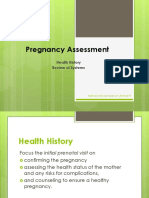 Pregnancy Assessment Health History ROS