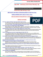 Current Affairs Weekly PDF - February 2019 First Week (1-8).pdf