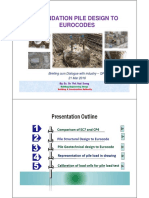 Foundation Pile Design to Eurocodes
