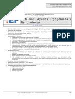 EP1 - Nutrición, Ayudas Ergogénicas y Rendimiento