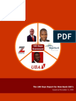 The 100 Days Scorecard for New Bank CEOs - Zenith, UBA and Skye