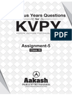 KVPYQuestions(Previousyears) XI Assignment-5