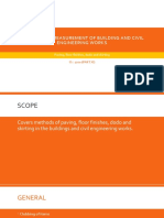 Methods of Measurement of Building and Civil Engineering