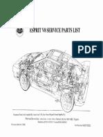 Service Parts List Esprit V8