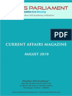 Current Affairs Magazine August 2019 Www.iasparliament.com