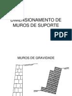 T04 Geo2 - Dimensionamento de Muros de Suporte