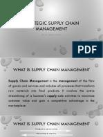 Strategic Supply Chain Managemnet
