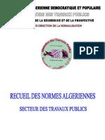 Recueil Des Normes Algeriennes 12 2008 2