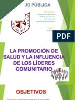 LA PROMOCIÓN DE SALUD Y LA INFLUENCIA DE LOS LÍDERES COMUNITARIO