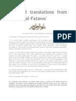 "Selected Translations - ""Majmu' al-Fatawa"""