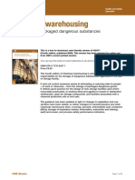 Chemical Warehousing. the Storage of Packaged Dangerous Substances HSG71