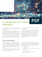 A Comparison of in Memory Databases